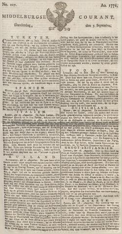 Middelburgsche Courant 1771-09-05