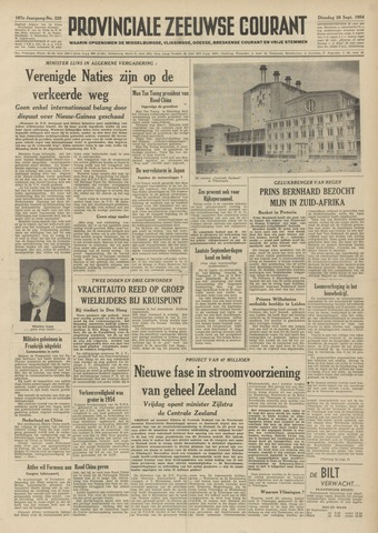 Provinciale Zeeuwse Courant 1954-09-28