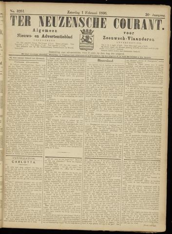 Ter Neuzensche Courant. Algemeen Nieuws- en Advertentieblad voor Zeeuwsch-Vlaanderen / Neuzensche Courant ... (idem) / (Algemeen) nieuws en advertentieblad voor Zeeuwsch-Vlaanderen 1896-02-01