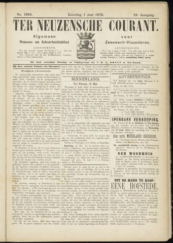 Ter Neuzensche Courant. Algemeen Nieuws- en Advertentieblad voor Zeeuwsch-Vlaanderen / Neuzensche Courant ... (idem) / (Algemeen) nieuws en advertentieblad voor Zeeuwsch-Vlaanderen 1878-06-01