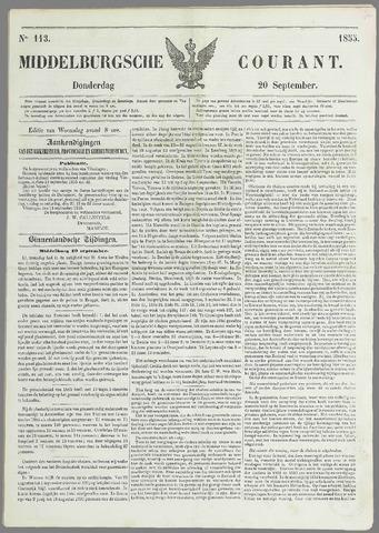 Middelburgsche Courant 1855-09-20