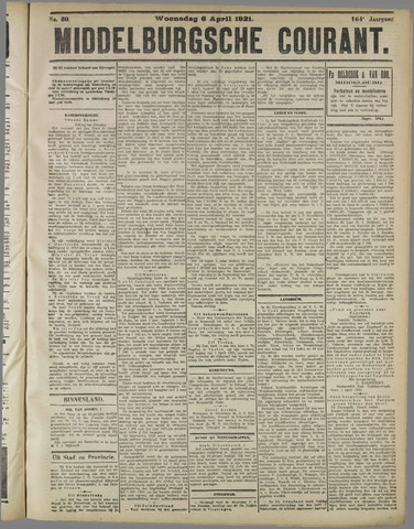 Middelburgsche Courant 1921-04-06