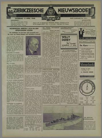 Zierikzeesche Nieuwsbode 1940-04-13