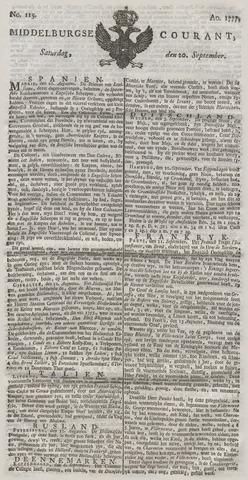 Middelburgsche Courant 1777-09-20
