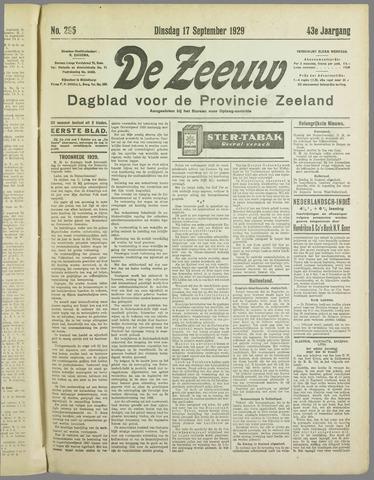 De Zeeuw. Christelijk-historisch nieuwsblad voor Zeeland 1929-09-17