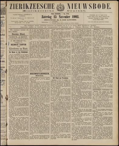 Zierikzeesche Nieuwsbode 1902-11-15