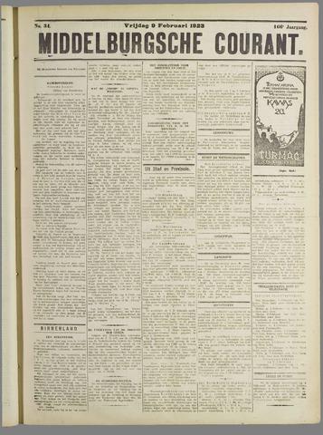 Middelburgsche Courant 1923