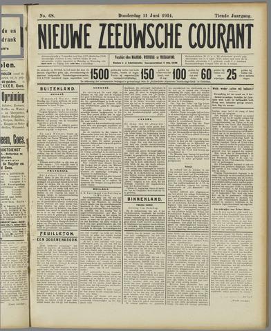 Nieuwe Zeeuwsche Courant 1914-06-11