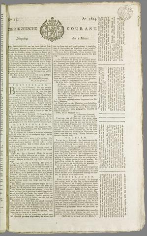 Zierikzeesche Courant 1814-03-01