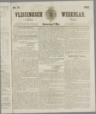 Vlissings Weekblad 1863-05-09