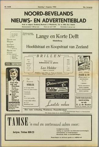 Noord-Bevelands Nieuws- en advertentieblad 1953-08-01