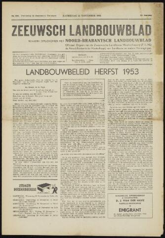 Zeeuwsch landbouwblad ... ZLM land- en tuinbouwblad 1953-11-21