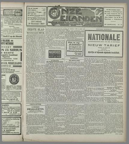 Onze Eilanden 1927-12-31