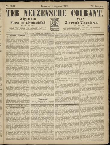 Ter Neuzensche Courant. Algemeen Nieuws- en Advertentieblad voor Zeeuwsch-Vlaanderen / Neuzensche Courant ... (idem) / (Algemeen) nieuws en advertentieblad voor Zeeuwsch-Vlaanderen 1883-08-01