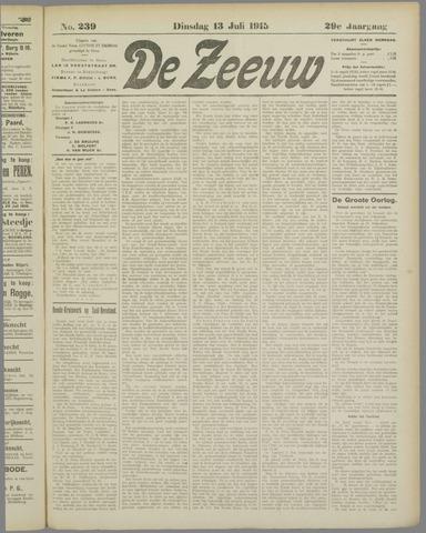 De Zeeuw. Christelijk-historisch nieuwsblad voor Zeeland 1915-07-13