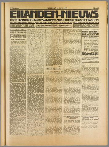 Eilanden-nieuws. Christelijk streekblad op gereformeerde grondslag 1935-06-22