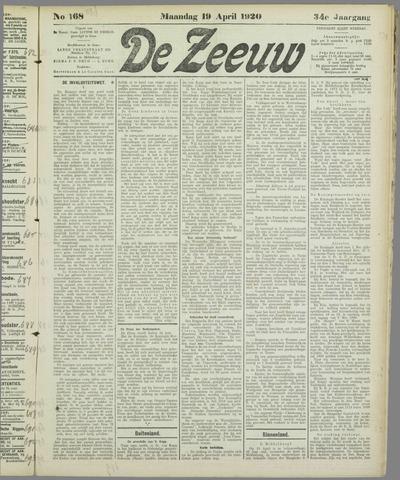 De Zeeuw. Christelijk-historisch nieuwsblad voor Zeeland 1920-04-19