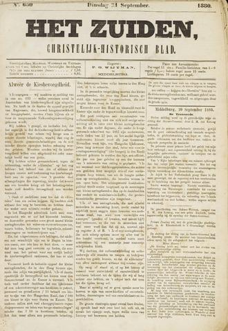 Het Zuiden, Christelijk-historisch blad 1880-09-21