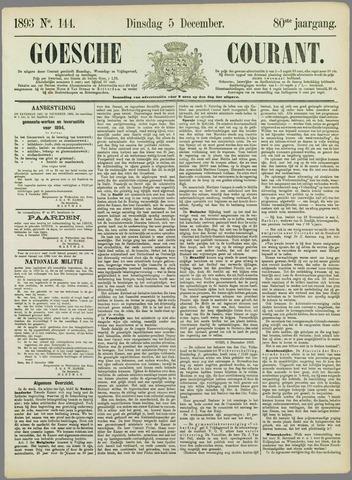 Goessche Courant 1893-12-05