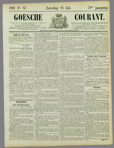 Goessche Courant 1891-07-25