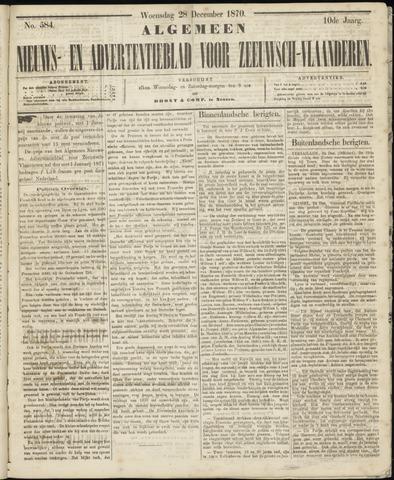 Ter Neuzensche Courant. Algemeen Nieuws- en Advertentieblad voor Zeeuwsch-Vlaanderen / Neuzensche Courant ... (idem) / (Algemeen) nieuws en advertentieblad voor Zeeuwsch-Vlaanderen 1870-12-28