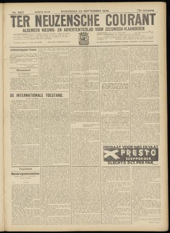 Ter Neuzensche Courant. Algemeen Nieuws- en Advertentieblad voor Zeeuwsch-Vlaanderen / Neuzensche Courant ... (idem) / (Algemeen) nieuws en advertentieblad voor Zeeuwsch-Vlaanderen 1938-09-28