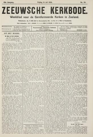 Zeeuwsche kerkbode, weekblad gewijd aan de belangen der gereformeerde kerken/ Zeeuwsch kerkblad 1926-07-16