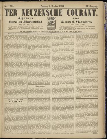 Ter Neuzensche Courant. Algemeen Nieuws- en Advertentieblad voor Zeeuwsch-Vlaanderen / Neuzensche Courant ... (idem) / (Algemeen) nieuws en advertentieblad voor Zeeuwsch-Vlaanderen 1883-10-06