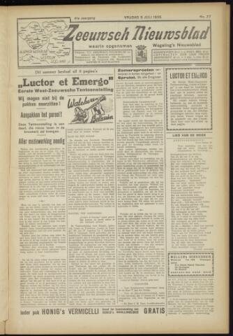 Zeeuwsch Nieuwsblad/Wegeling's Nieuwsblad 1935-07-05