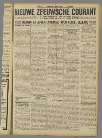 Nieuwe Zeeuwsche Courant 1925-02-12