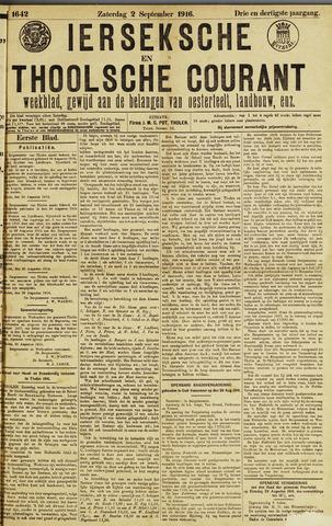 Ierseksche en Thoolsche Courant 1916-09-02