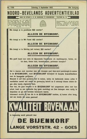 Noord-Bevelands Nieuws- en advertentieblad 1932-09-03