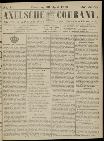 Axelsche Courant 1919-04-30
