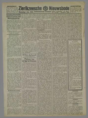 Zierikzeesche Nieuwsbode 1933-01-04
