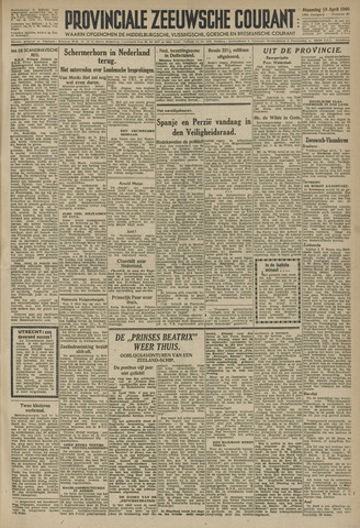 Provinciale Zeeuwse Courant 1946-04-15