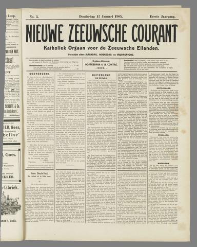 Nieuwe Zeeuwsche Courant 1905-01-12