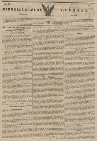 Middelburgsche Courant 1843-05-16