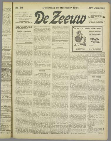 De Zeeuw. Christelijk-historisch nieuwsblad voor Zeeland 1924-12-18