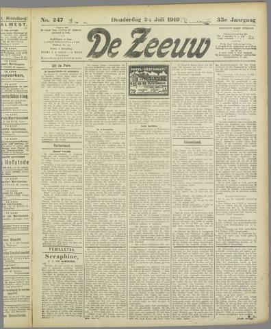De Zeeuw. Christelijk-historisch nieuwsblad voor Zeeland 1919-07-24