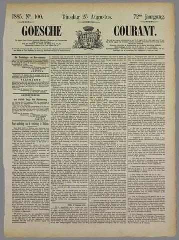 Goessche Courant 1885-08-25