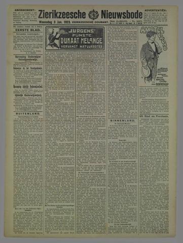 Zierikzeesche Nieuwsbode 1923-01-03