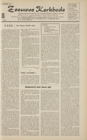 Zeeuwsche kerkbode, weekblad gewijd aan de belangen der gereformeerde kerken/ Zeeuwsch kerkblad 1963-11-08