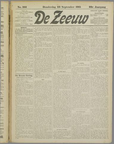 De Zeeuw. Christelijk-historisch nieuwsblad voor Zeeland 1915-09-23