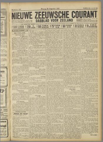 Nieuwe Zeeuwsche Courant 1922-08-25