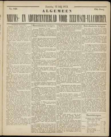 Ter Neuzensche Courant. Algemeen Nieuws- en Advertentieblad voor Zeeuwsch-Vlaanderen / Neuzensche Courant ... (idem) / (Algemeen) nieuws en advertentieblad voor Zeeuwsch-Vlaanderen 1873-07-12