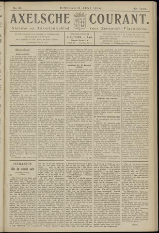 Axelsche Courant 1924-06-17