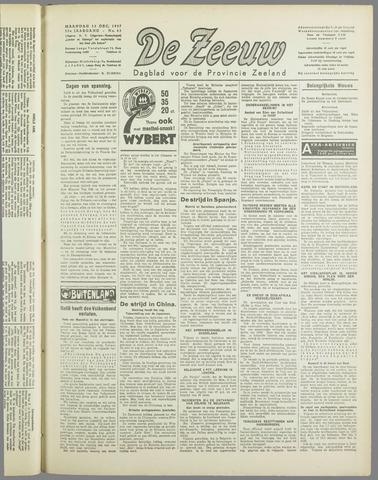De Zeeuw. Christelijk-historisch nieuwsblad voor Zeeland 1937-12-13