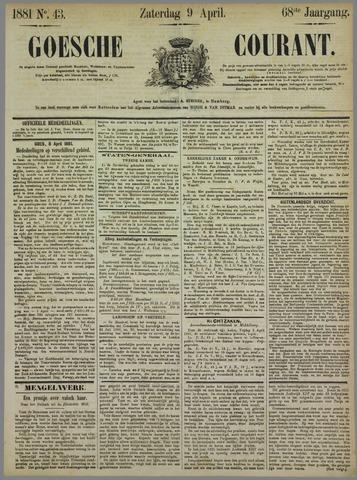 Goessche Courant 1881-04-09