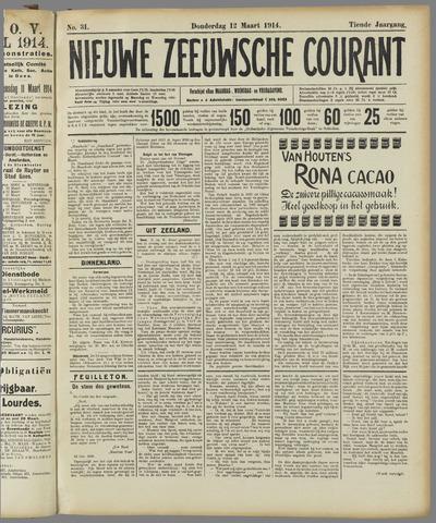 Nieuwe Zeeuwsche Courant 1914-03-12