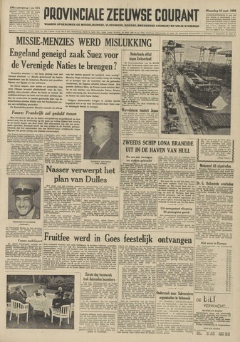 Provinciale Zeeuwse Courant 1956-09-10